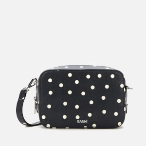 Ganni Women's Polka Dot Cross Body Bag - Sky Captain