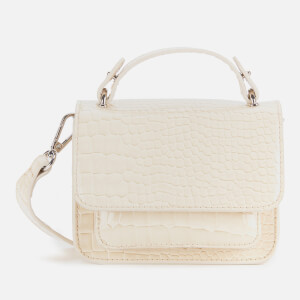 HVISK Women's Renei Croco Cross Body Bag - Soft Off White