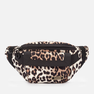 Ganni Women's Recycled Tech Fabric Hip Pack - Leopard