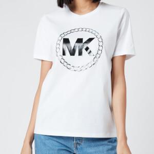 MICHAEL MICHAEL KORS Women's ELV HT Chain Logo T-Shirt - White