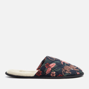 Desmond & Dempsey Women's Soleia Wool Slippers - Navy