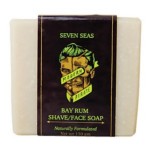 Modern Pirate Seven Seas Bay Rum Shave/Face Soap 110g