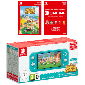 Nintendo Switch Lite (Turquoise) + Animal Crossing: New Horizons + Nintendo Switch Online (3 Months)