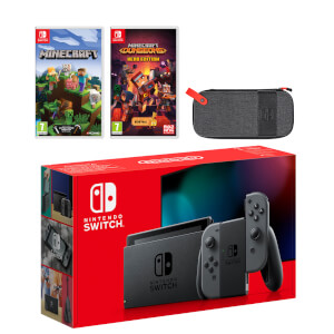 Nintendo Switch (Grey) Minecraft Double Pack