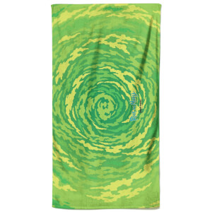 Rick and Morty Portal All Over Pattern Bath Towel