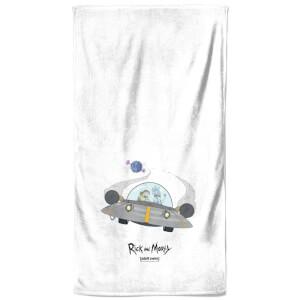 Rick and Morty Spaceship Bath Towel