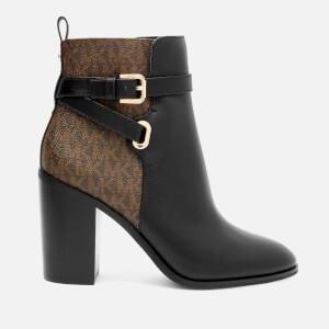 MICHAEL MICHAEL KORS Women's Aldridge Heeled Boots - Black/Brown
