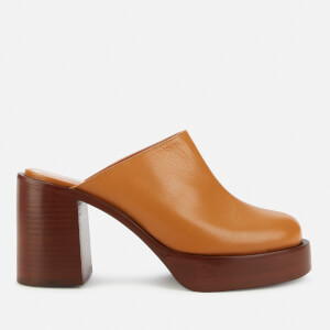 Simon Miller Women's Low Raid Heeled Clogs - Toffee