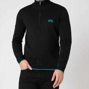 BOSS Athleisure Men's Ziston_S21 Half Zip Jumper - Black