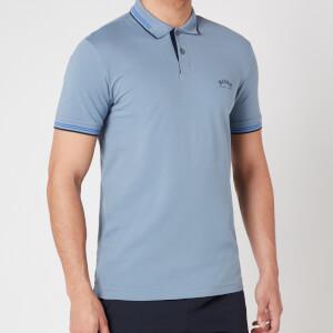 BOSS Athleisure Men's Paul Curved Logo Polo Shirt - Silver