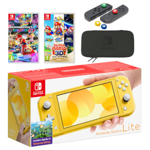 Nintendo Switch Lite (Yellow) Mario Mega Pack