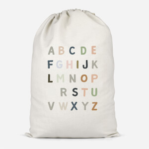 Pastel Alphabet Cotton Storage Bag