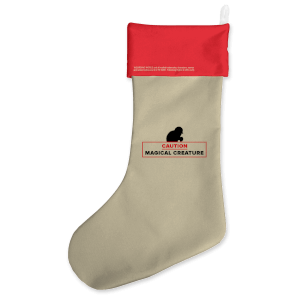 Caution Magical Creature Christmas Stocking