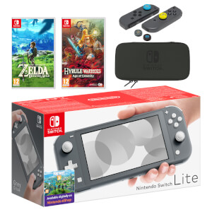 Nintendo Switch Lite (Grey) The Legend of Zelda Double Pack