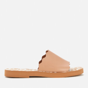 See By Chloé Women's Essie Leather Slide Sandals - Light Rose