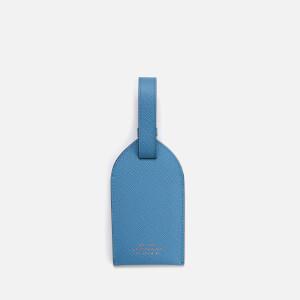 Smythson Women's Panama Luggage Tag - Nile Blue
