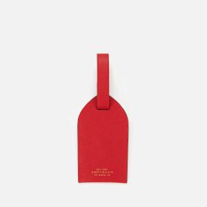 Smythson Women's Panama Luggage Tag - Scarlet Red