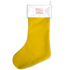 Well Hung Yellow Christmas Stocking