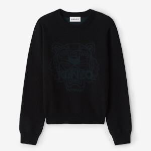 KENZO Women's Needlepunch Tiger Head Jumper - Black