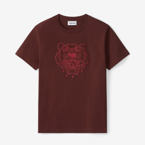 KENZO Women's Velvet Tigerhead Embroidered Loose T-Shirt - Red