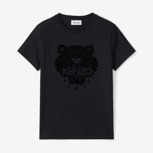 KENZO Women's Flock Tiger Head Printed Classic T-Shirt - Black