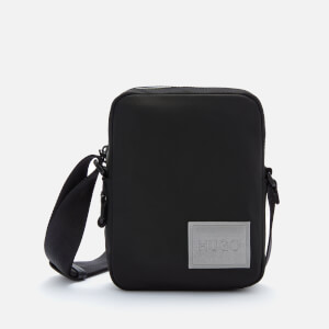 HUGO Men's Record Mf_Ns Zip Reporter Bag - Black