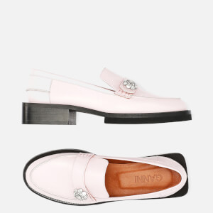 Ganni Women's Leather Loafers - Pale Lilac