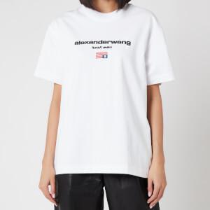 Alexander Wang Women's Short Sleeve Logo Graphic T-Shirt - White