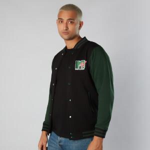 MTV Logo Unisex Varsity Jacket - Zwart / Green