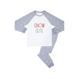 Snow Cute Babies' Patterned Pyjamas - White / Grey