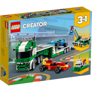 LEGO Creator: 3 in 1 Race Car Transporter Building Set (31113)