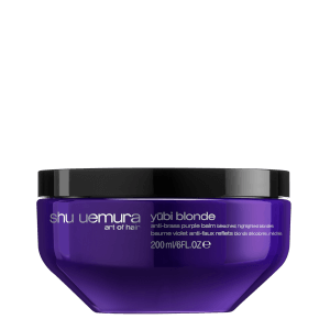 Shu Uemura Art of Hair Yubi Blonde Anti-Brass Purple Balm for Bleached, Highlighted Blonde Hair 200ml