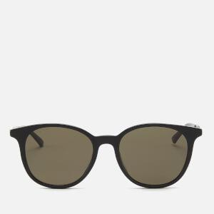 Gucci Men's Acetate Frame Sunglasses - Shiny Solid Black