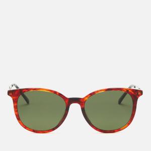 Gucci Men's Acetate Frame Sunglasses - Shiny Red Havana
