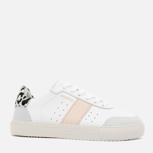 Axel Arigato Women's Dunk V2 Leather Trainers - White/Leopard/Pink