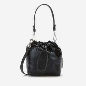 Karl Lagerfeld Women's K/Ikonik Nylon Bucket Bag - Black