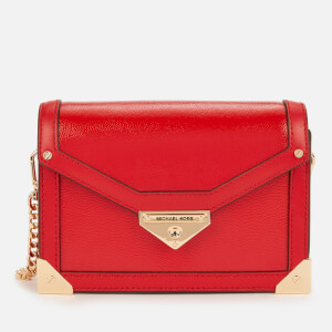 Michael Michael Kors Women's Grace Small Trunk Cross Body Bag - Bright Red