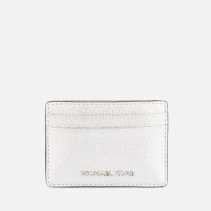 Michael Michael Kors Women's Jet Set Card Holder - Silver