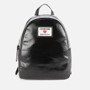 Love Moschino Women's Heart Logo Backpack - Black