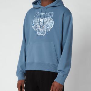 Kenzo Men's Gradient Tiger Classic Hooded Sweatshirt - Blue