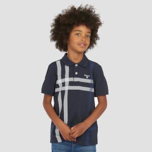 Barbour Boys' Blaine Tartan Polo-Shirt - Navy