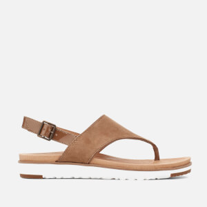 UGG Women's Alessia Suede Toe Post Sandals - Coffee Grounds