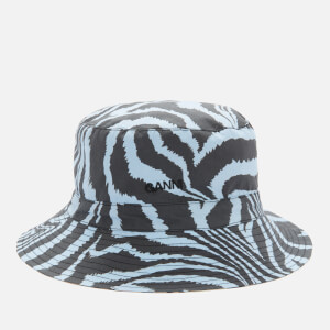 Ganni Women's Printed Cotton Poplin Bucket Hat - Forever Blue