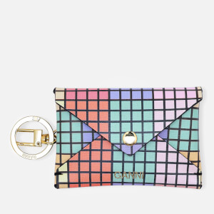 Ganni Women's Leather Key Chain/Envelope Cardholder - Multi