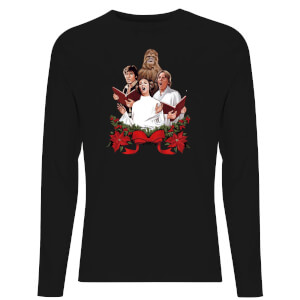 Star Wars Christmas Jedi Carols Unisex Long Sleeve T-Shirt - Black