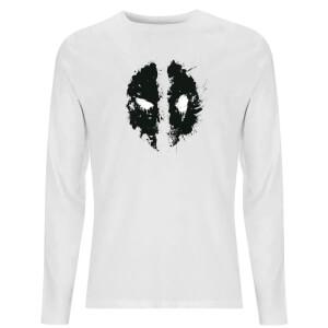 Splat Face Unisex Long Sleeve T-Shirt - White