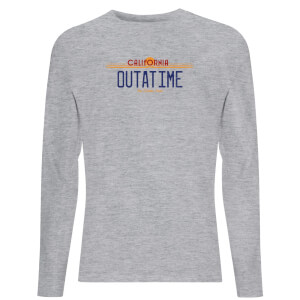 Back To The Future Outatime Plate Unisex Long Sleeve T-Shirt - Grey