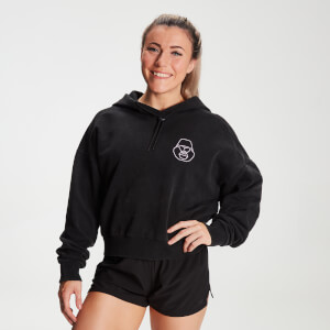 MP X Zack George Women's Washed Crop Hoodie - Black