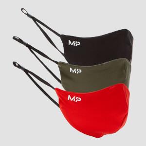 MP Mask (3 Pack) - Black/Dark Olive/Danger