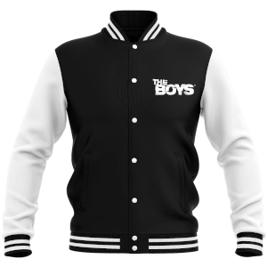 The Boys Women's Varsity Jacket - Black/White